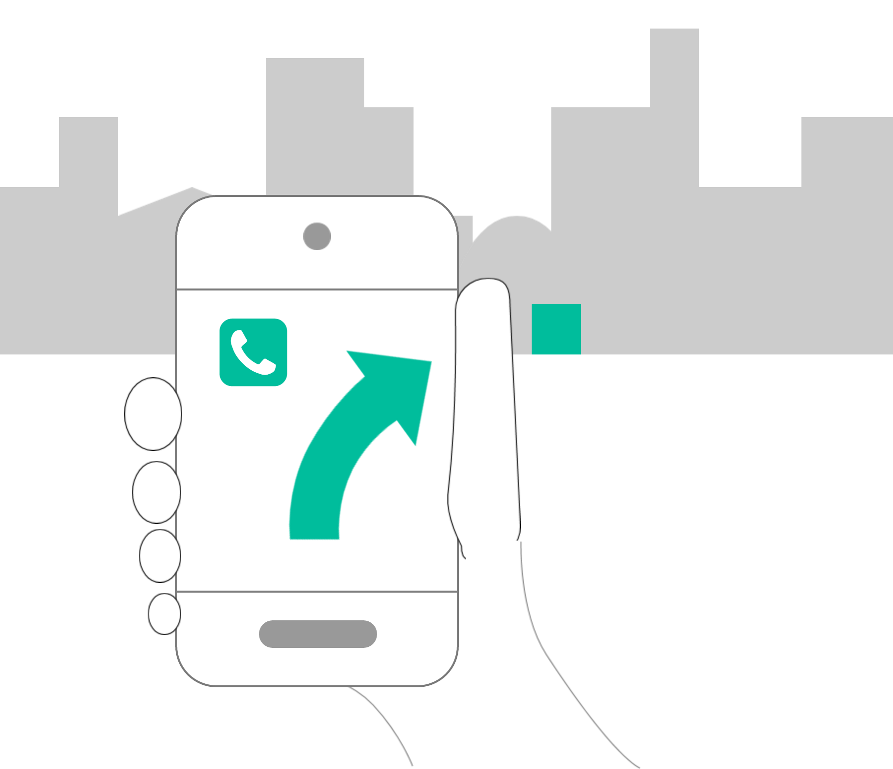 Mobile UX: highlight location and contact