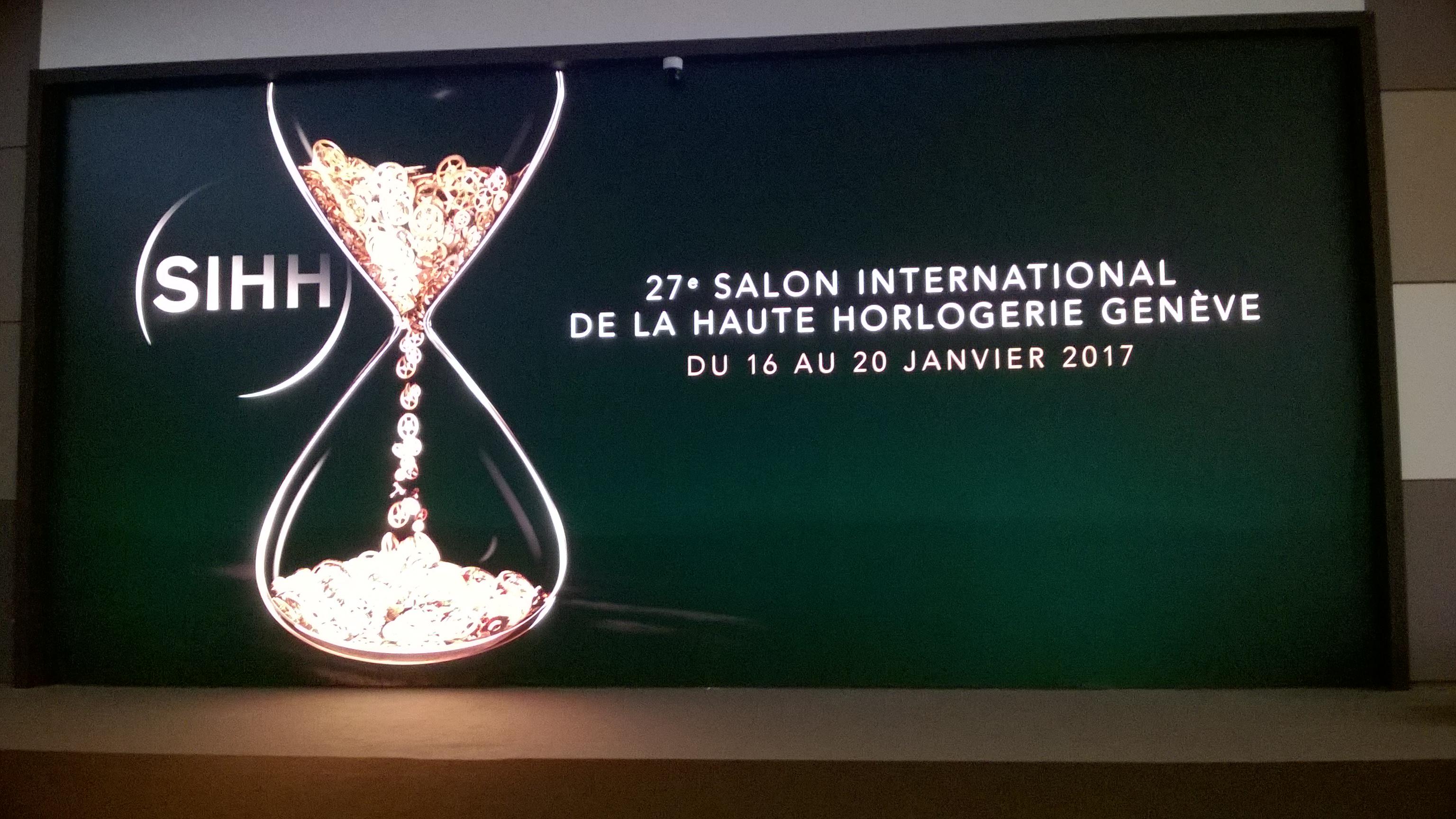 Welcome at the Salon International de la Haute Horlogerie 2017!
