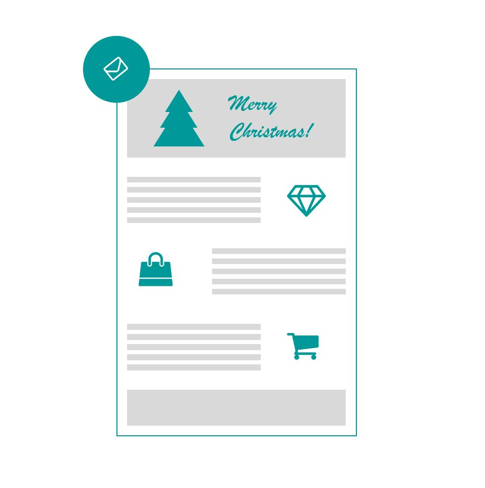 Luxury newsletters for Christmas